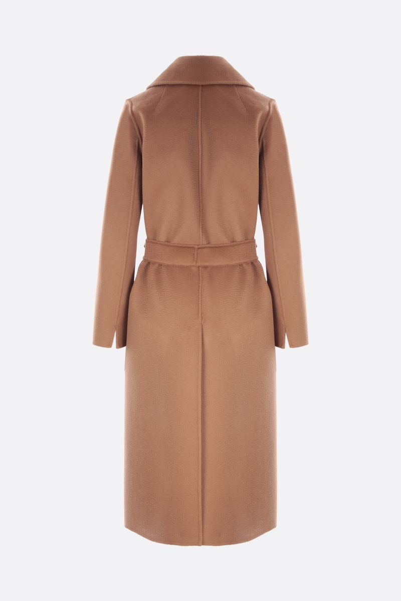 'S MAX MARA: Perry double-breasted cashmere wool blend coat Color Brown_2