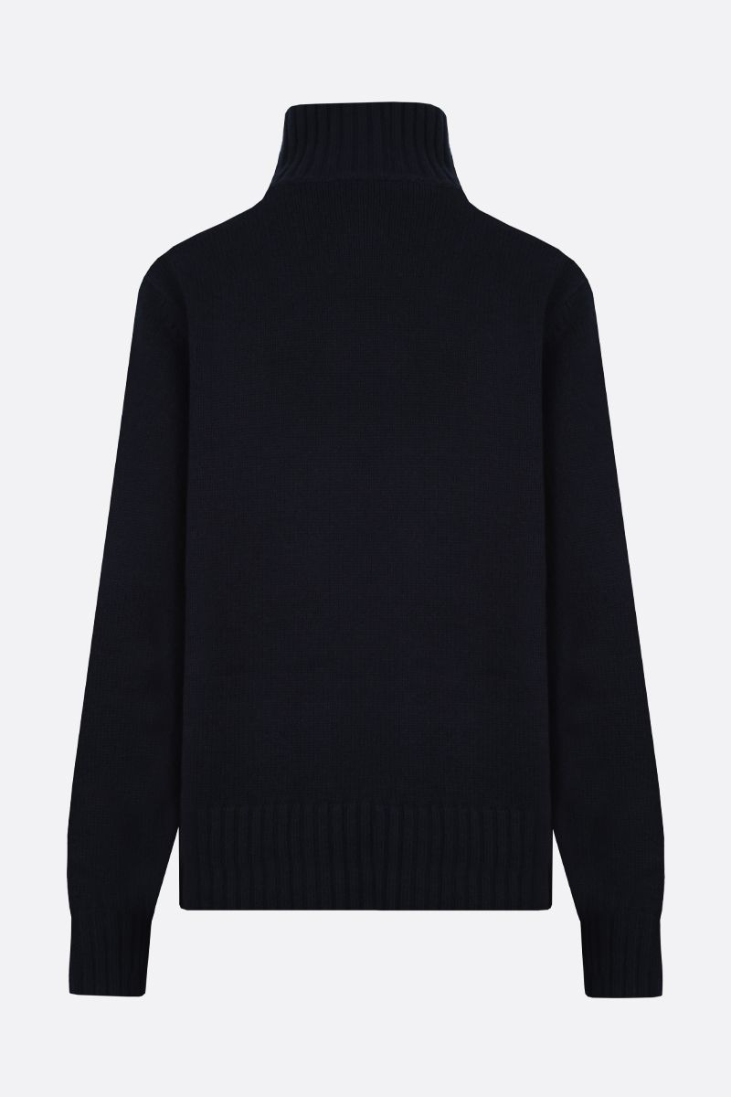 'S MAX MARA: Rubino wool cashmere blend pullover Color Blue_2