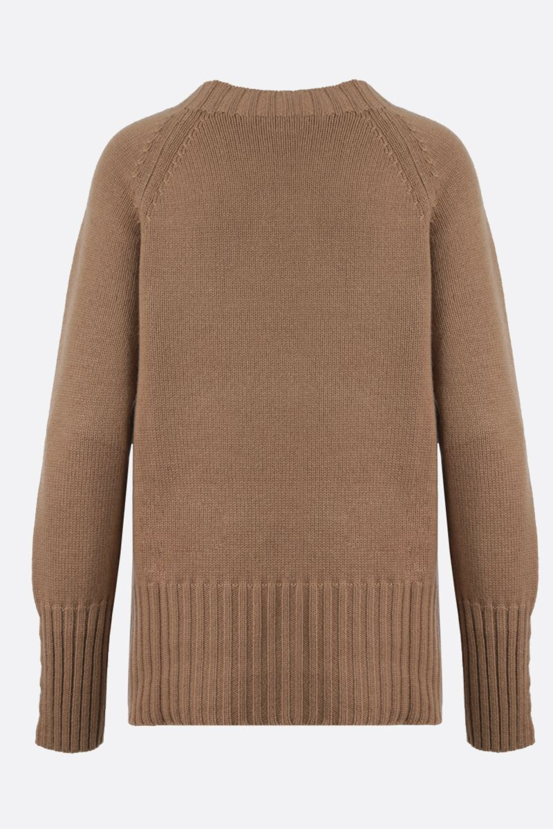 'S MAX MARA: Lilies wool cashmere blend pullover Color Neutral_2