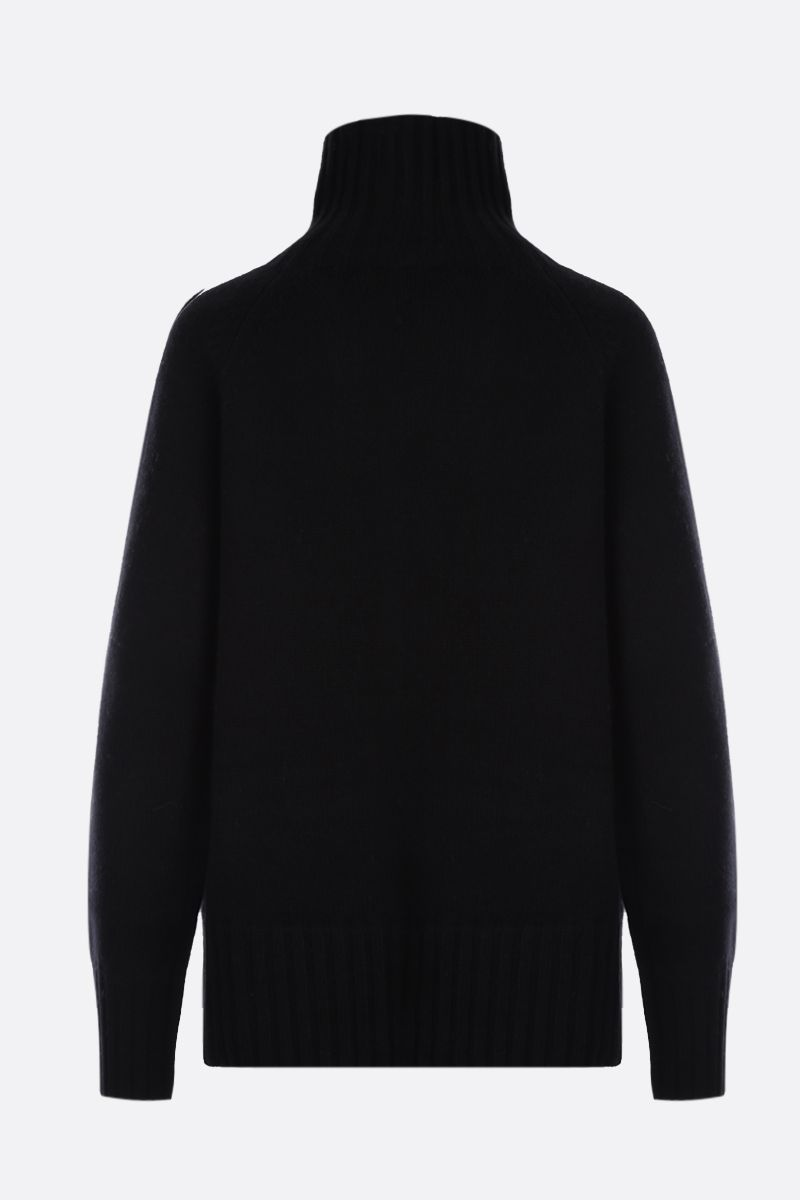 'S MAX MARA: Mantova wool cashmere blend turtleneck Color Black_2