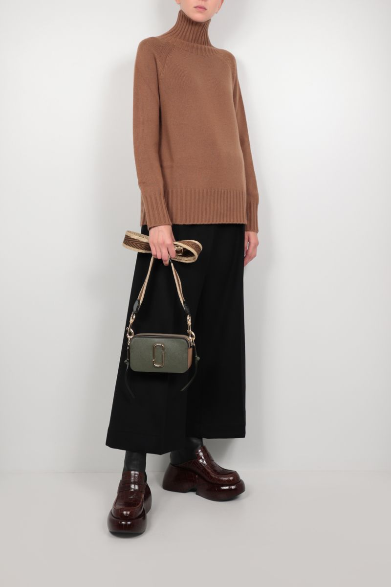 'S MAX MARA: Mantova oversize cashmere wool blend pullover Color Brown_2