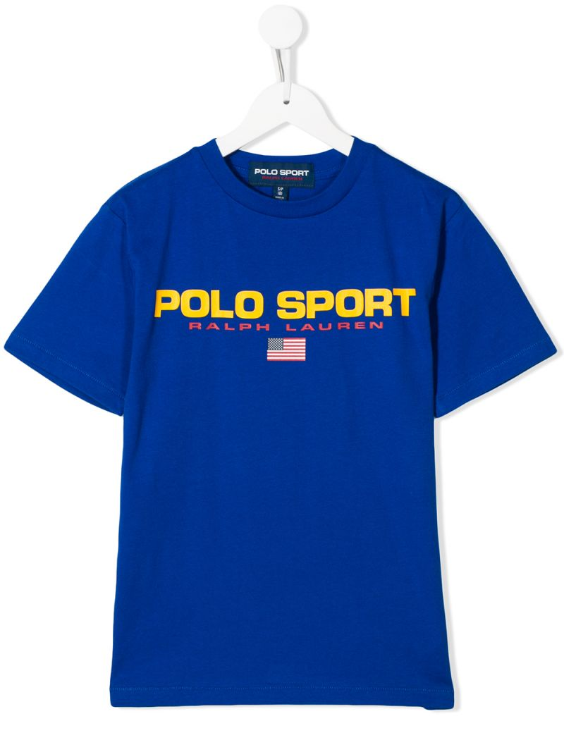 RALPH LAUREN KIDS: t-shirt Polo Sport in cotone Colore Blu_1