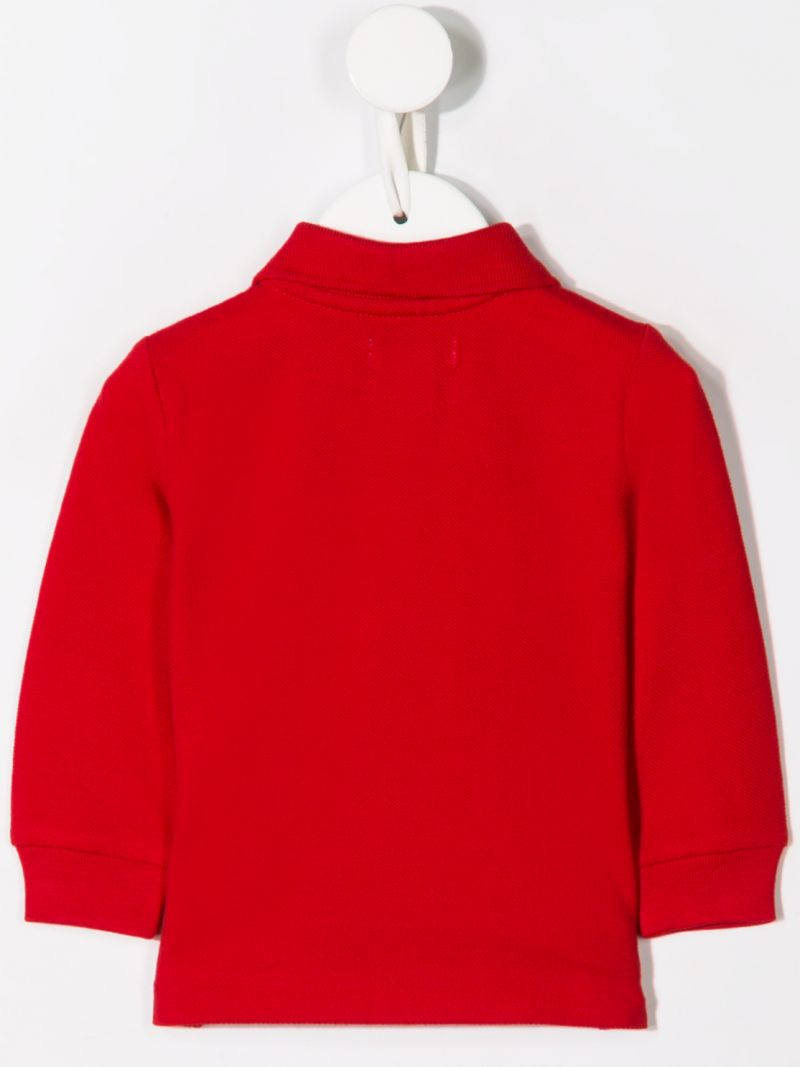 RALPH LAUREN KIDS: Ski Bear embroidered cotton long-sleeved polo shirt Color Red_2