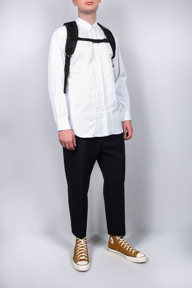 COMME des GARCONS SHIRT: pleated poplin shirt Color White_2