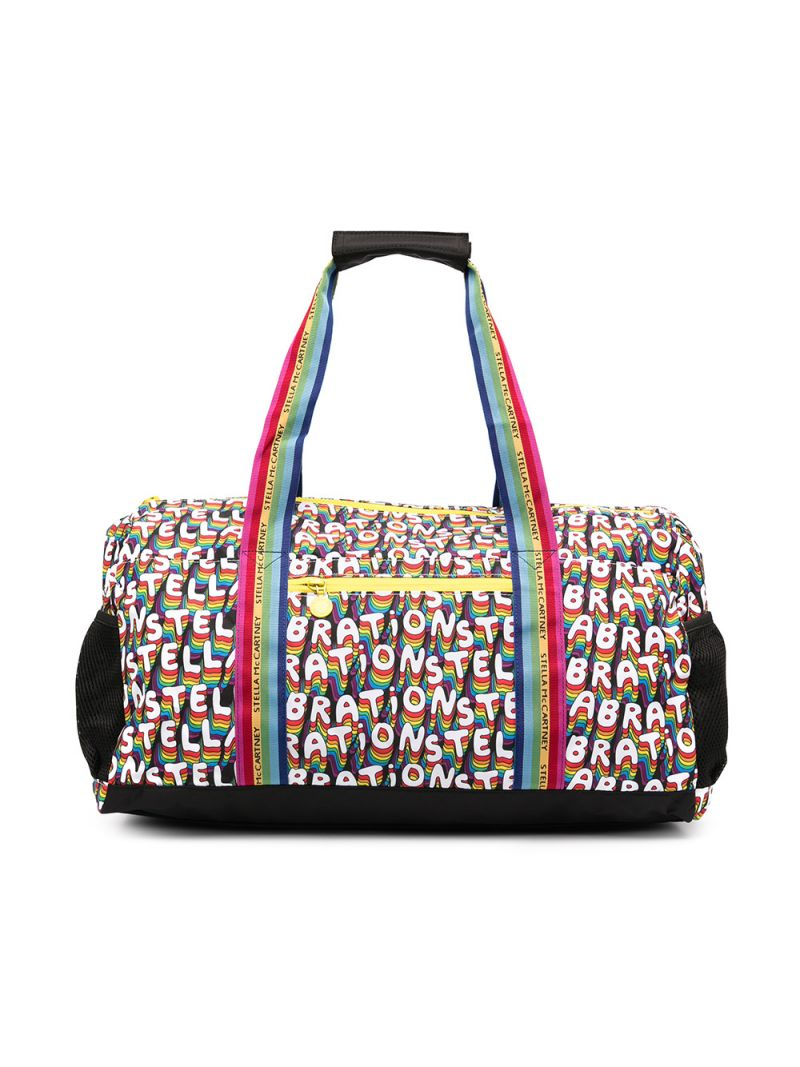 STELLA McCARTNEY KIDS: Stellabration nylon weekend bag Color Multicolor_1