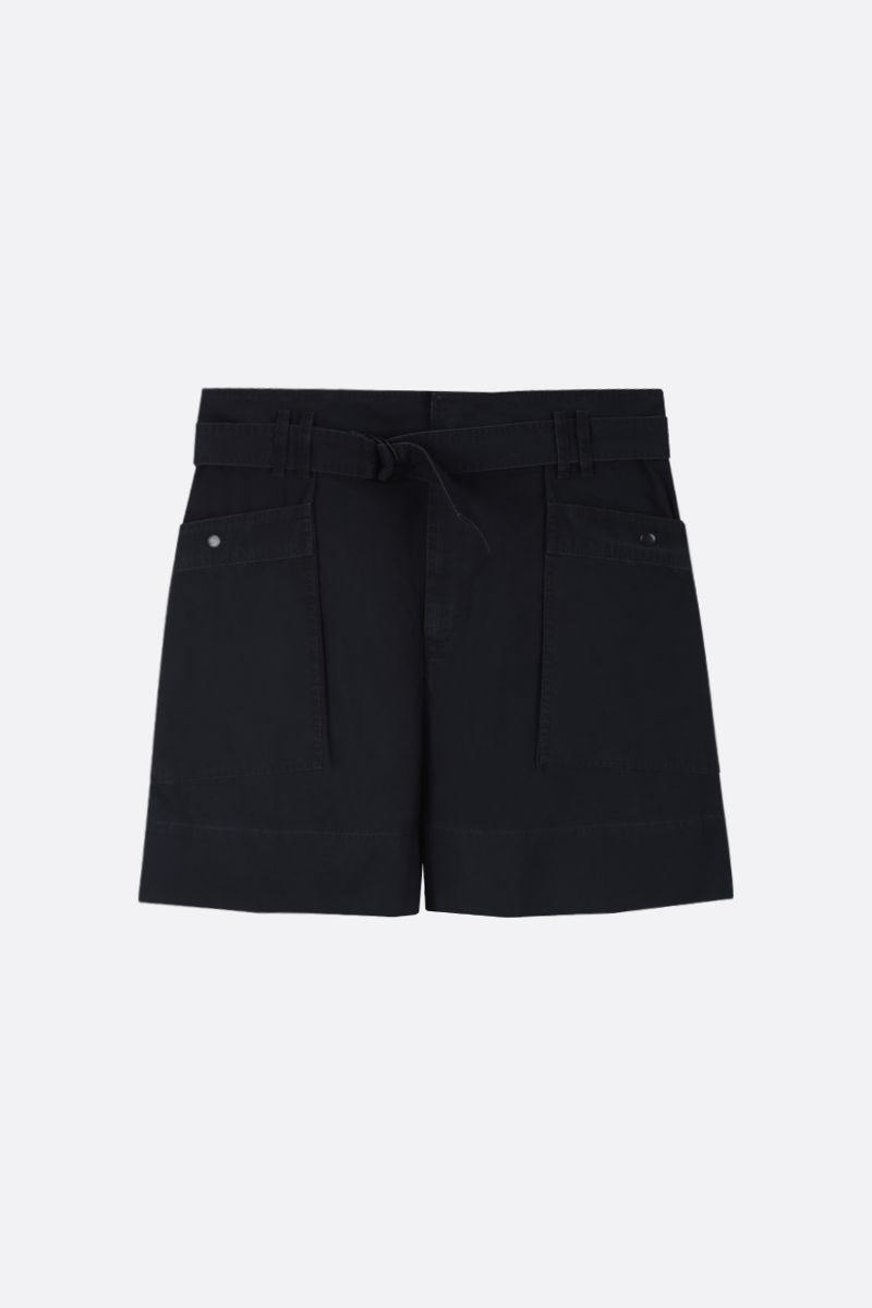 ISABEL MARANT ETOILE: Zayna cotton cargo shorts Color Black_1