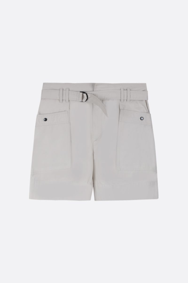 ISABEL MARANT ETOILE: Zayna cotton cargo shorts Color Neutral_1