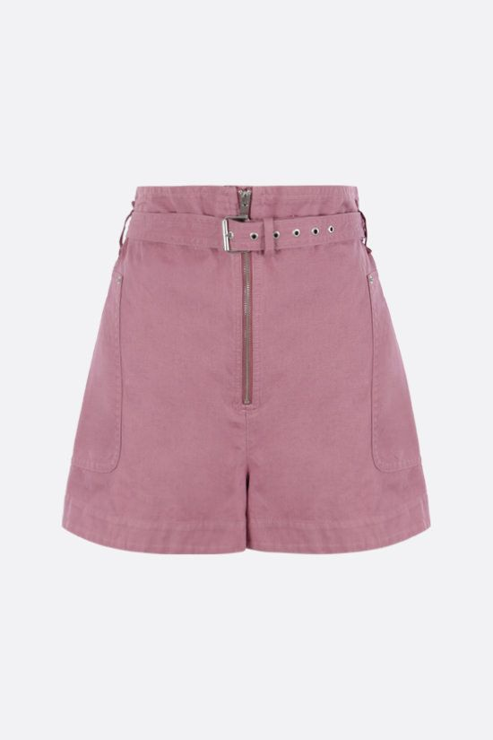 ISABEL MARANT ETOILE: Parana cotton linen blend shorts Color Pink_1