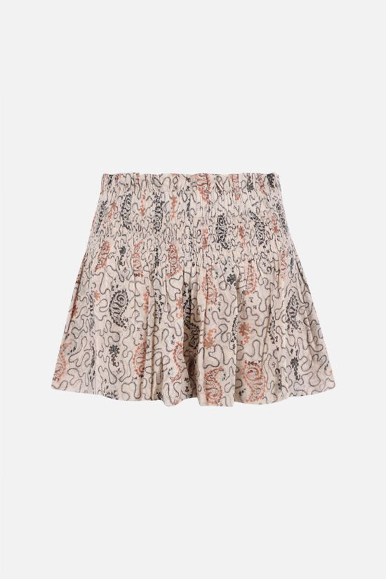 ISABEL MARANT ETOILE: Ayowel cotton shorts Color Multicolor_1