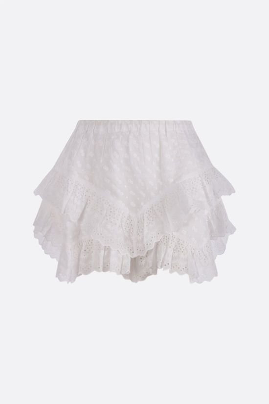 ISABEL MARANT ETOILE: Teocadia borderie anglaise shorts Color White_1