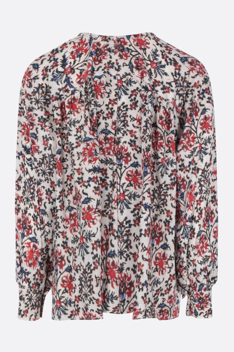 ISABEL MARANT: Amba blouse in printed silk blend Color Red_2