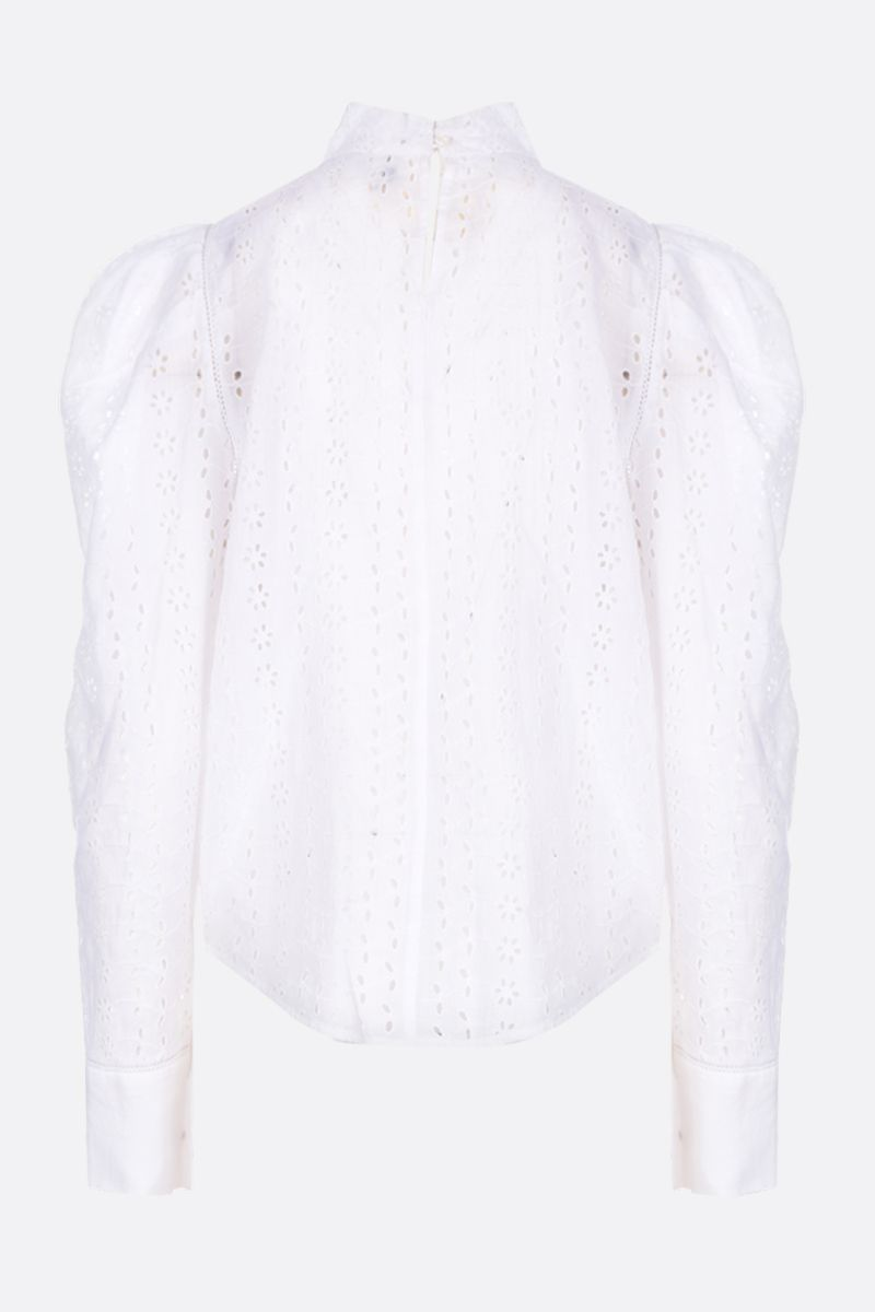 ISABEL MARANT: Qyandi blouse in broderie anglaise Color White_2