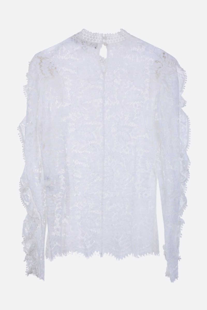 ISABEL MARANT: Tory floral lace blouse Color White_3