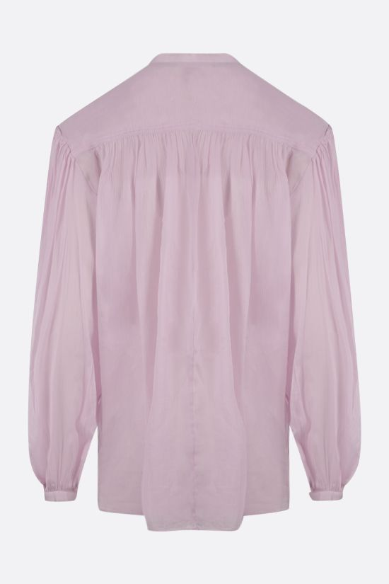 ISABEL MARANT: Kiledia cotton linen blend blouse Color Pink_2