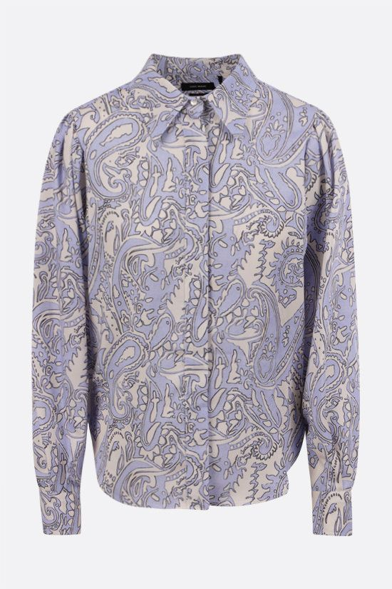 ISABEL MARANT: Bedrissa twill shirt Color Blue_1