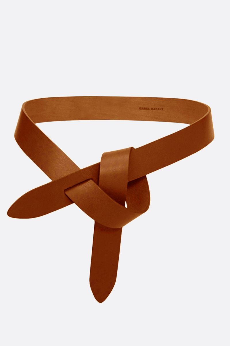 ISABEL MARANT: Lecce smooth leather belt Color Neutral_1