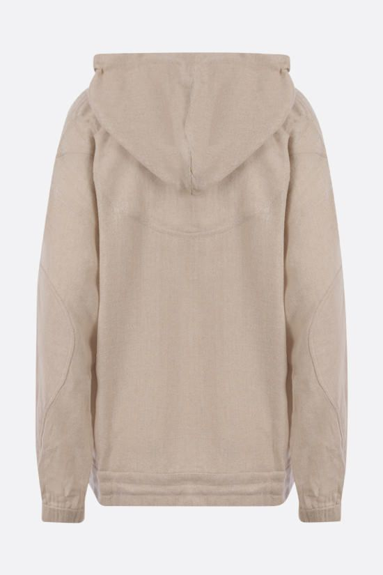 ISABEL MARANT: Paselo silk hoodie Color Neutral_2