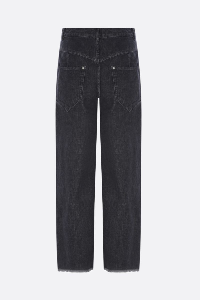 ISABEL MARANT: jeans cropped Dilali Colore Nero_2