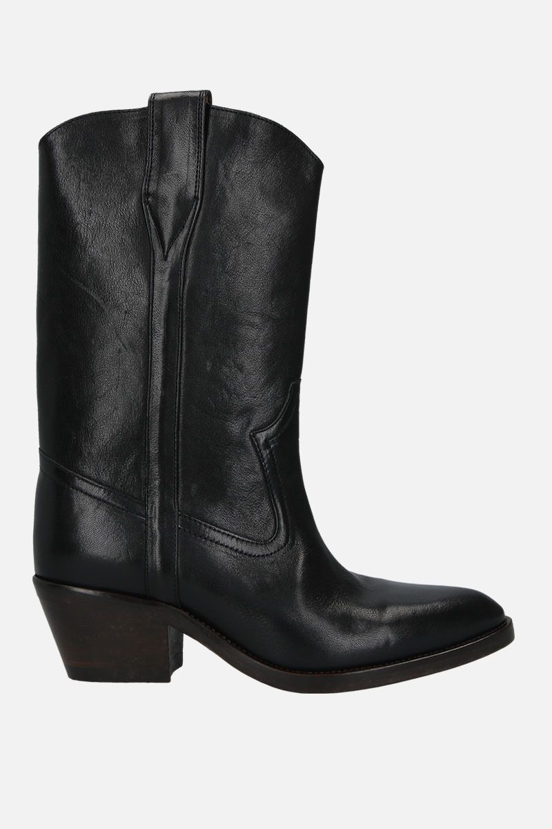 ISABEL MARANT: Danta western boots in smooth leather Color Black_1