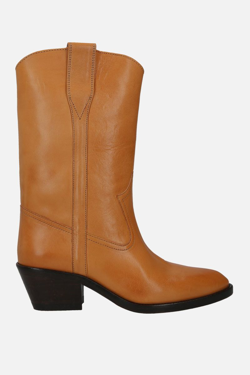 ISABEL MARANT: Danta western boots in smooth leather Color Neutral_1