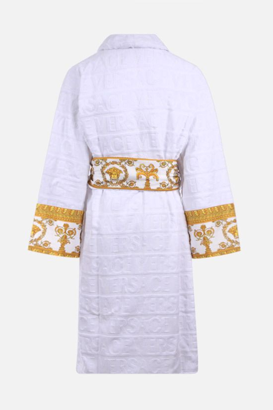 VERSACE: I Love Baroque cotton bathrobe Color White_2