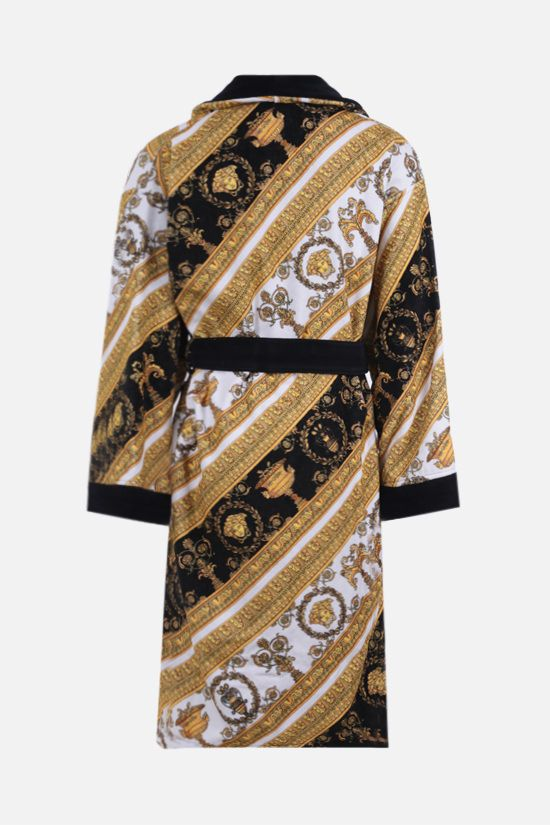 VERSACE: I Love Baroque cotton bathrobe Color Multicolor_2