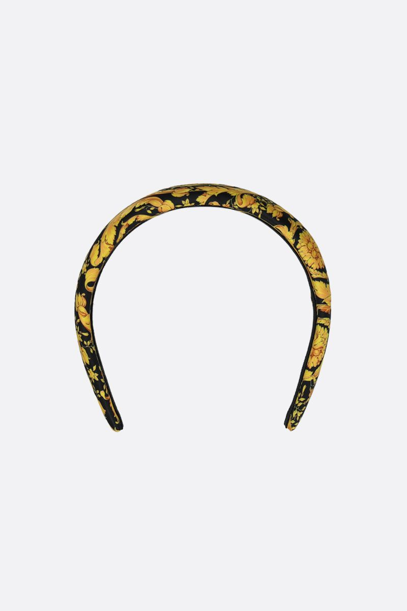 VERSACE: Barocco twill print hedband Color Black_1