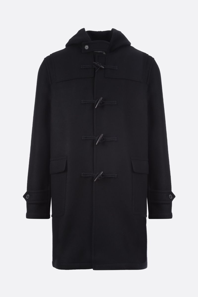SAINT LAURENT: wool duffle coat Color Black_1