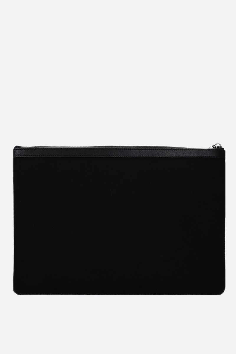 SAINT LAURENT: Rive Gauche canvas pouch Color Black_3