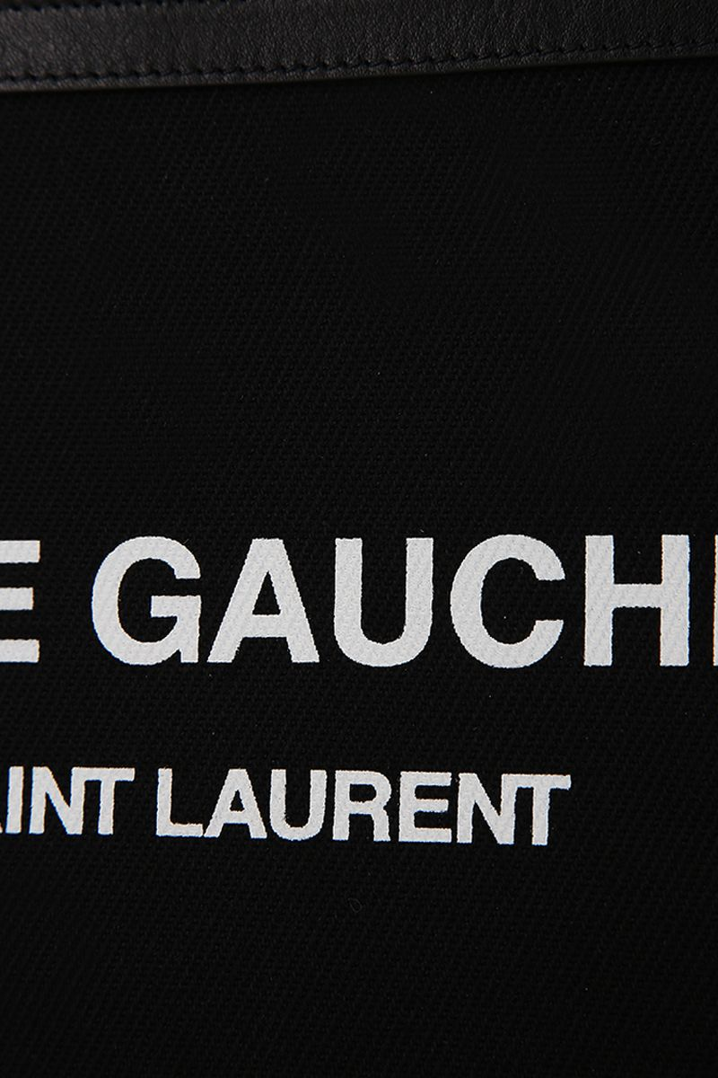 SAINT LAURENT: Rive Gauche canvas pouch Color Black_4
