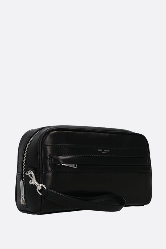 SAINT LAURENT: Camp soft nappa camera pouch Color Black_2