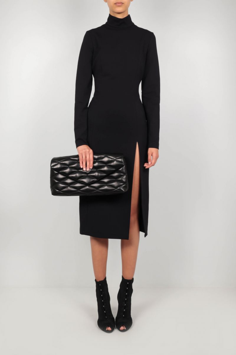 SAINT LAURENT: Sade Puffer quilted nappa clutch Color Black_2