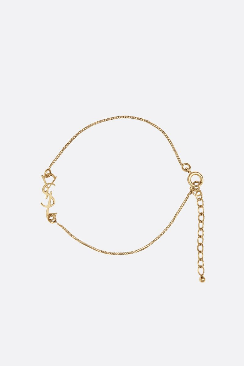 SAINT LAURENT: Monogram brass bracelet_1