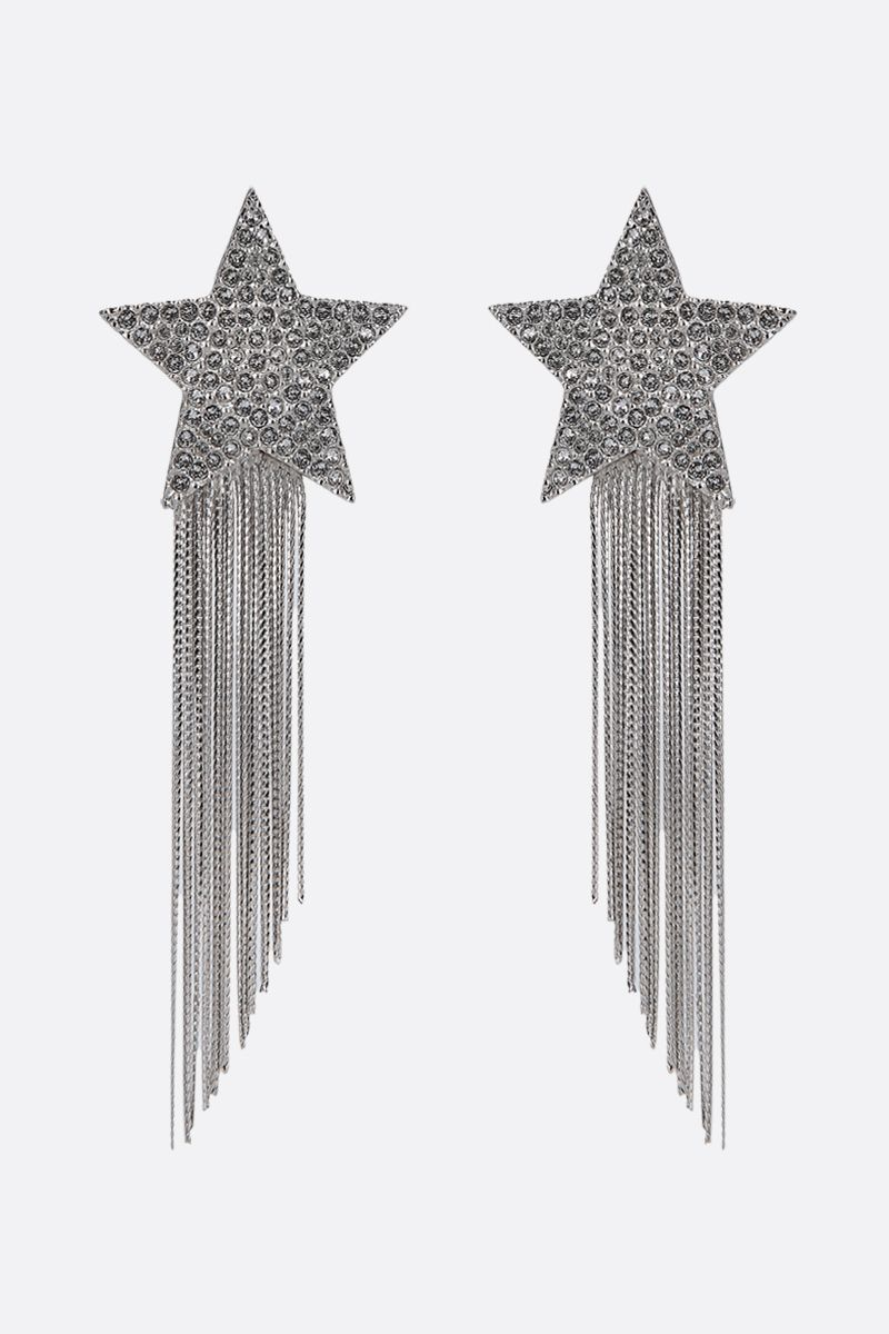 SAINT LAURENT: Stars & Love Star brass earrings_1