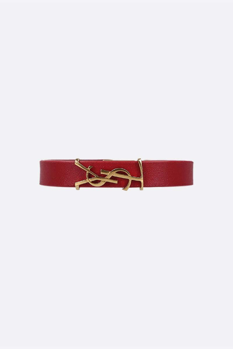 SAINT LAURENT: Opyum nappa bracelet Color Red_1