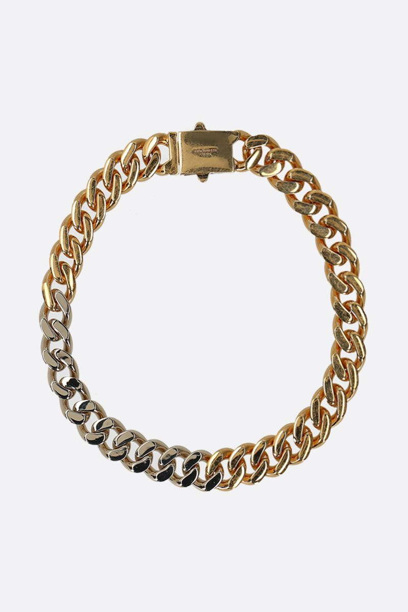 SAINT LAURENT: brass chain necklace Color Gold_1