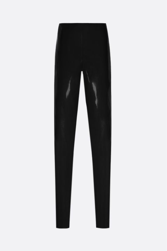 SAINT LAURENT: high-waist latex leggings Color Black_1