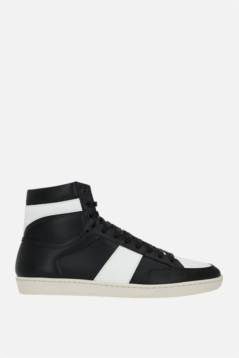 SAINT LAURENT: Signature Court SL/10H smooth leather high-top sneakers Color Black_1