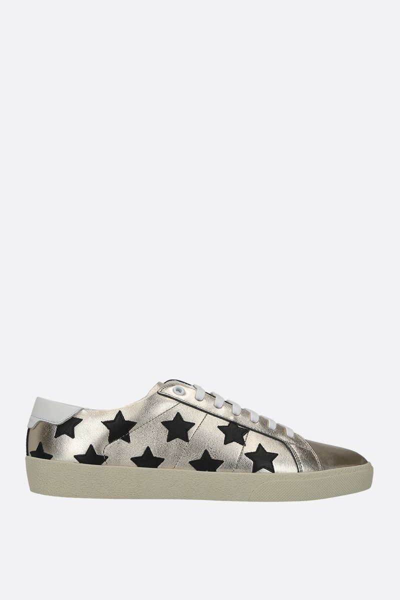 SAINT LAURENT: sneaker Court Classic SL/06 in pelle laminata Colore Multicolore_1