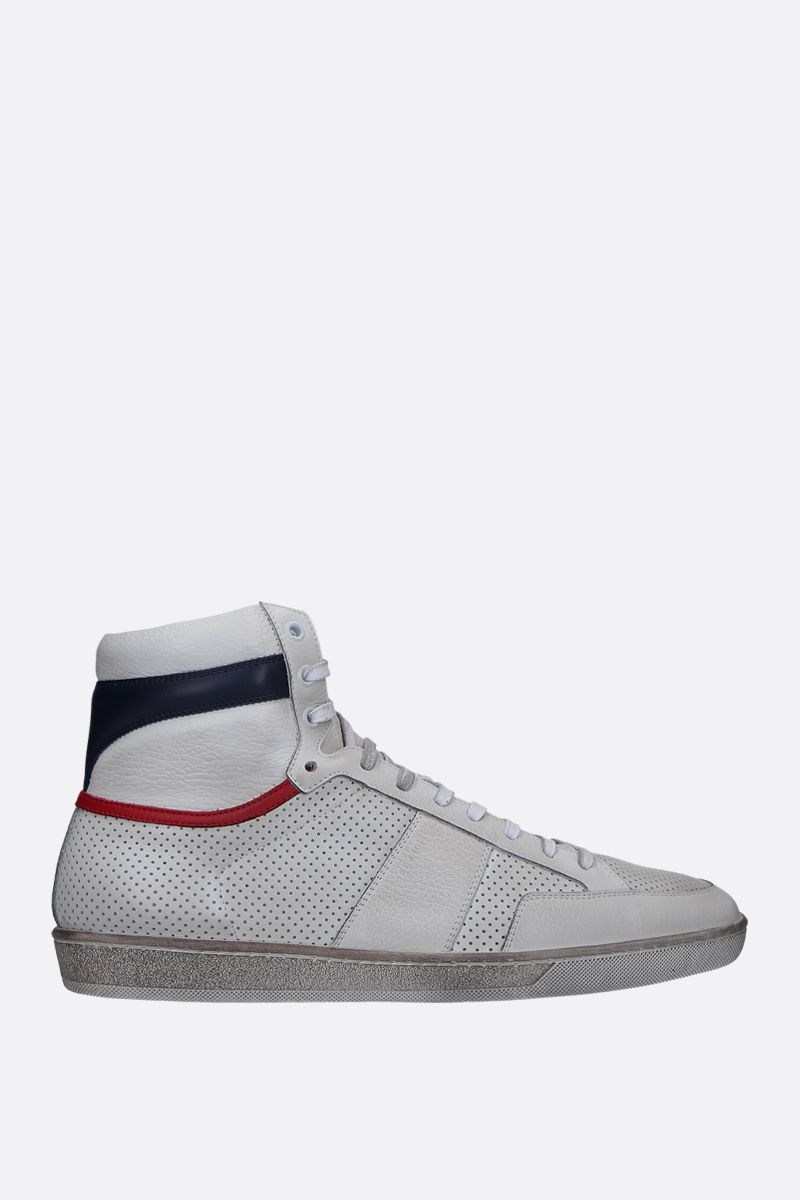 SAINT LAURENT: Court Classic SL/10 sneakers in perforated leather Color Multicolor_1