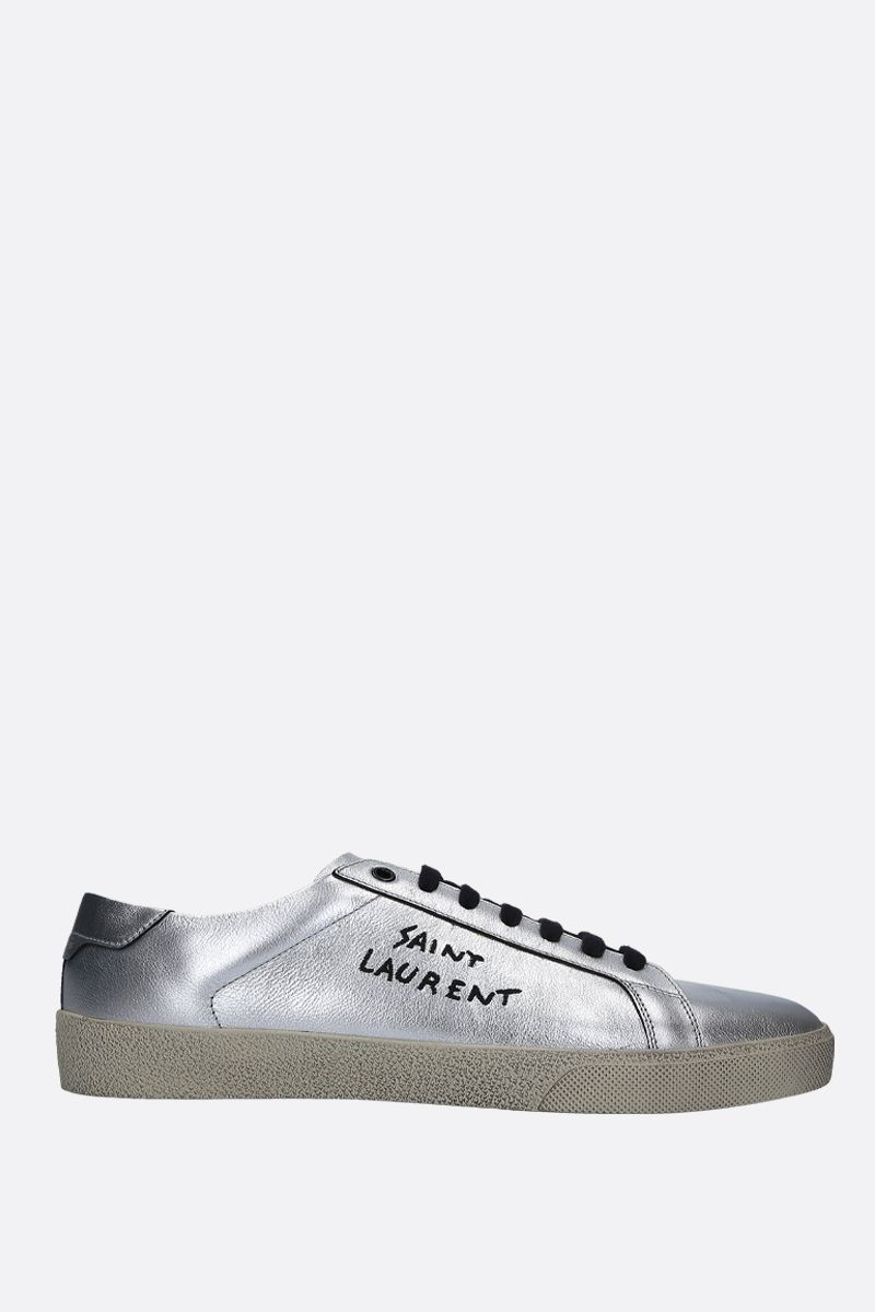 SAINT LAURENT: Court Classic SL/06 sneakers in laminated leather_1
