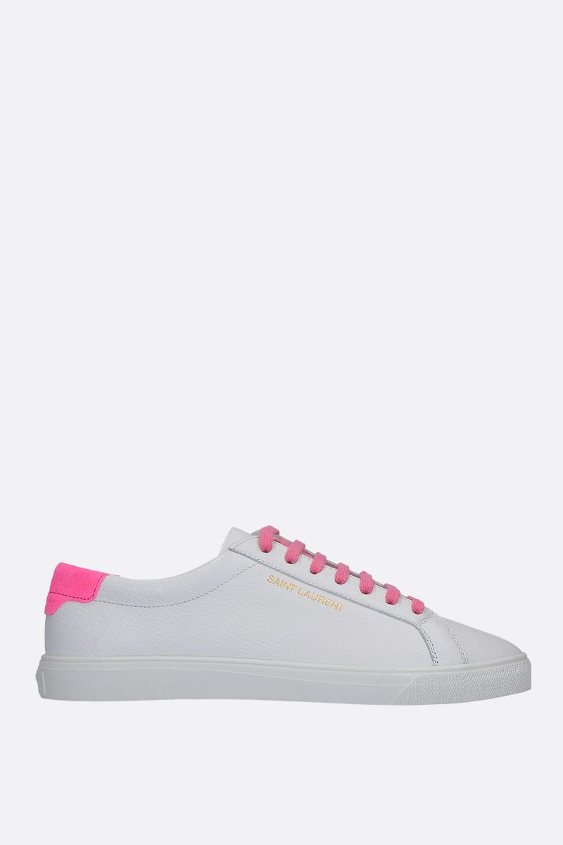 SAINT LAURENT: sneaker low-top Andy in pelle martellata_1