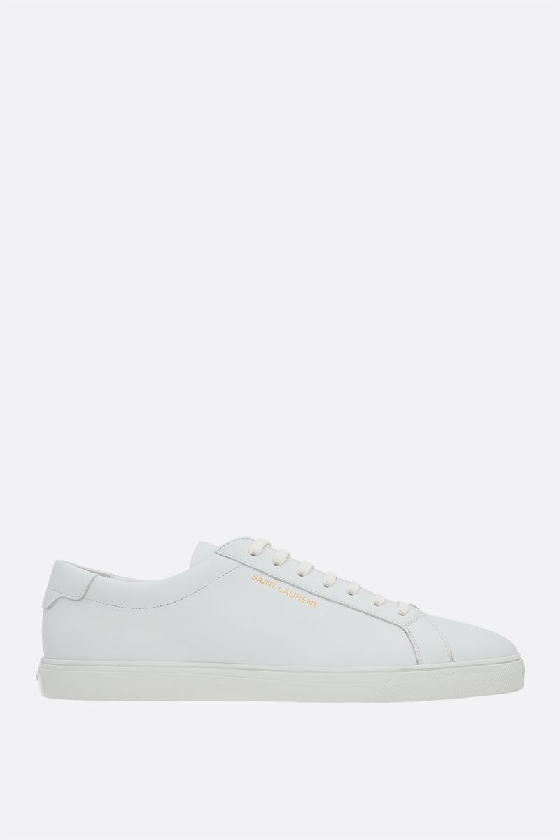 SAINT LAURENT: Andy low-top sneakers in smooth leather Color White_1