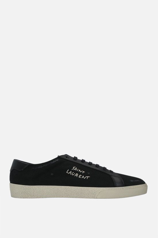 SAINT LAURENT: sneaker Court Classic SL/06 in canvas Colore Nero_1