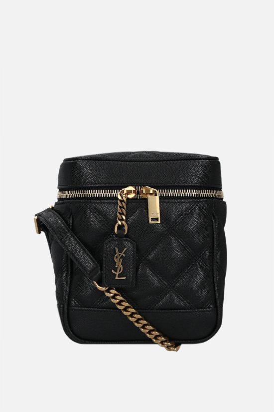 SAINT LAURENT: Vanity 80's quilted leather shoulder bag Color Black_1