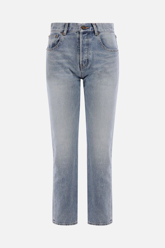 SAINT LAURENT: Authentic straight-leg jeans Color Blue_1