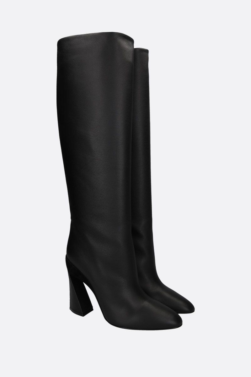 SALVATORE FERRAGAMO: Antea pull-on boots in smooth leather Color Black_2