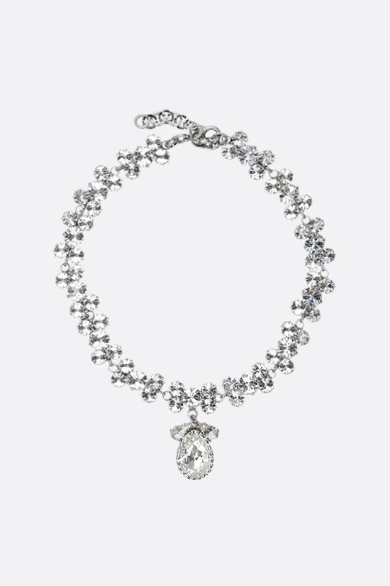 ALESSANDRA RICH: crystal choker with large crystal drop Color Neutral_1