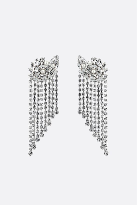 ALESSANDRA RICH: crystal cascade earrings Color Neutral_1