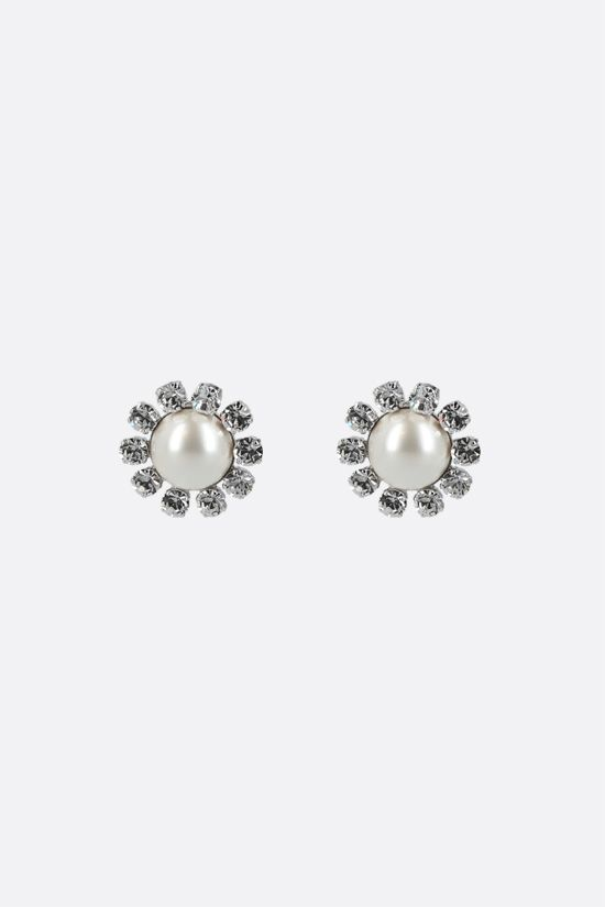 ALESSANDRA RICH: crystal and pearl earrings Color Neutral_1